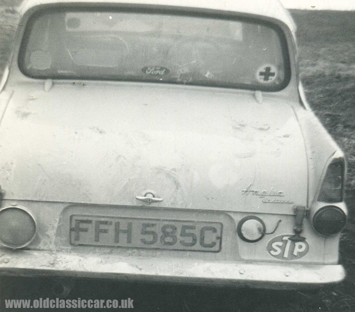 Rear view of the Anglia