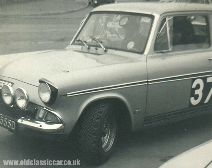Another Ford 105E ready to take part in a rally
