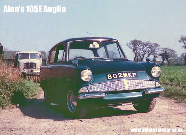 colour photo of a Ford Anglia 105E