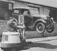 A promotional photo showing an Austin 7