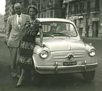A Fiat 600 in Naples, 1959