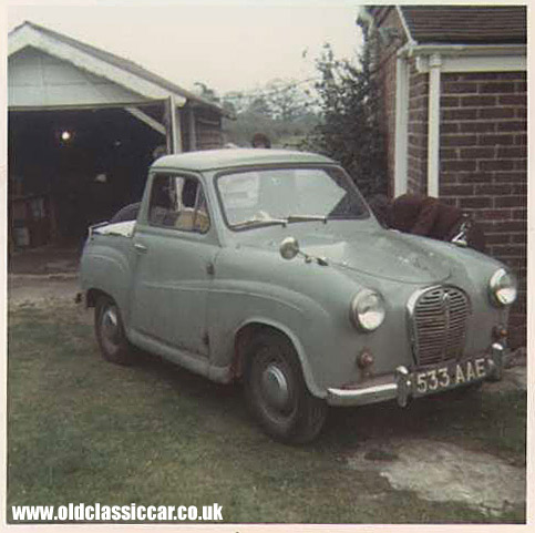 An Austin A35 pickup seen in '73