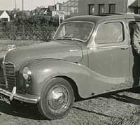 An Austin A40 Devon saloon car