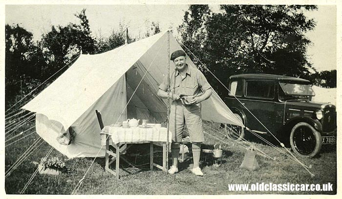 Austin 7 on a camping trip