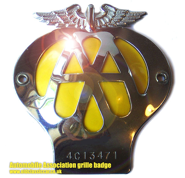 Vintage Aa Badge Automotive Club Badges