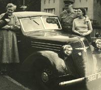 2 Litre Adler Cabriolet car.