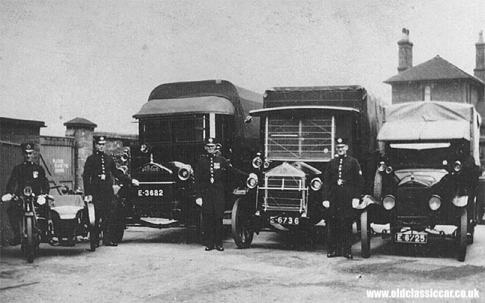 Albion lorry line-up