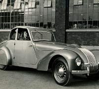 The Allard with its folding roof in position