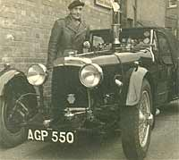 Early photograph of an Aston Martin