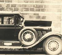 A vintage Auburn car