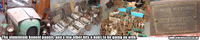Some of the Austin 7 spare parts