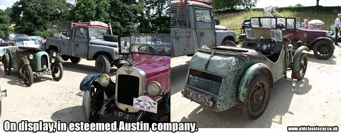 The Austin 7 on show with other classic cars