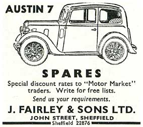 Seller of Austin 7 car spares