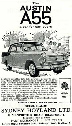 Advert for the Austin A55 Cambridge Mk2