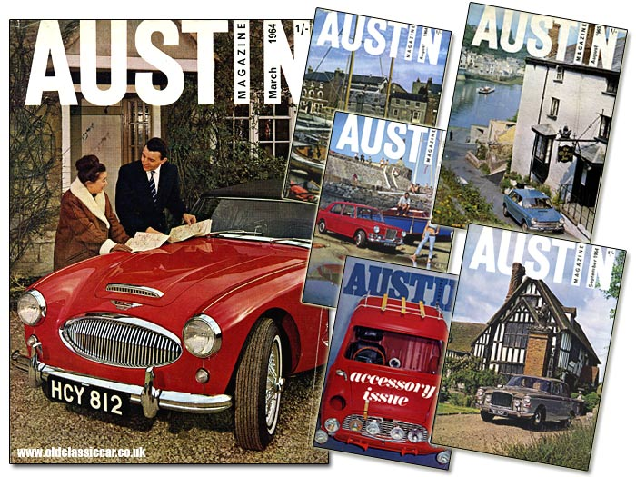 Austin Healey 3000 and other BMC cars on this magazine