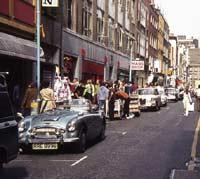 Classic Austin Healey 3000 in London