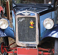 Mickey Mouse on the front of an Austin 7