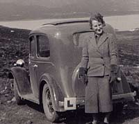 Rear view of an Austin Ruby in Scotland