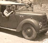 An Austin Eight staff car