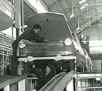A brand new A55 Cambridge on the production line / inspection