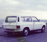 Rear view of the Allegro car