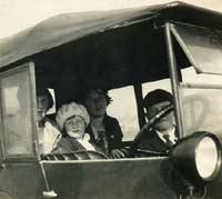 Passengers in their Austin 7