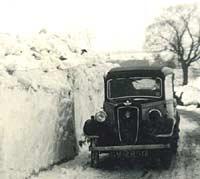 Austin Ruby car in the snow