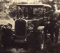 1927 Austin car with its owner?