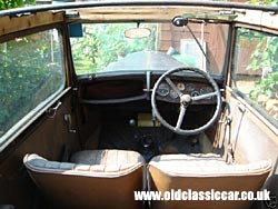 Interior showing the seats & dashboard in the Austin