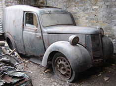 A rare surviving Austin Eight van
