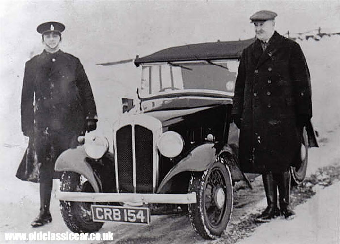 Two Austin Ripleys used by Derbyshire police in the 1930s