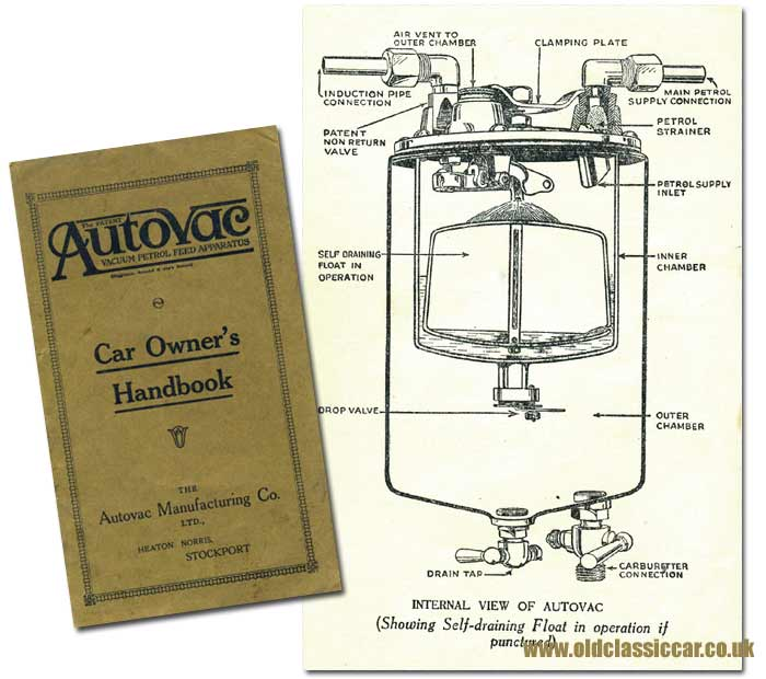The Autovac vehicle petrol system