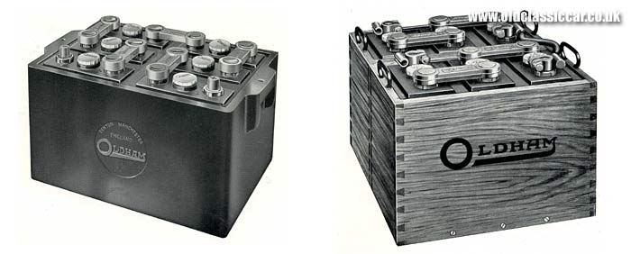 Two pre-war bus batteries