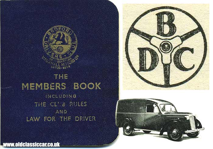 Cover of the Bedford Drivers Club handbook