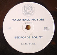 Bedford commercial vehicle 78rpm record