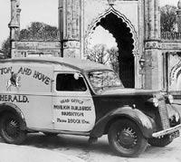 Newspaper delivery van