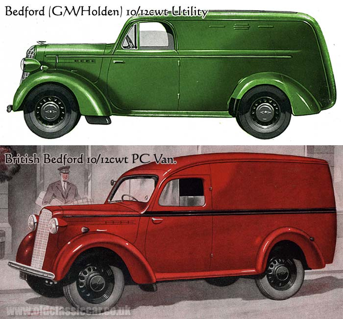 Australian and British Bedford vans