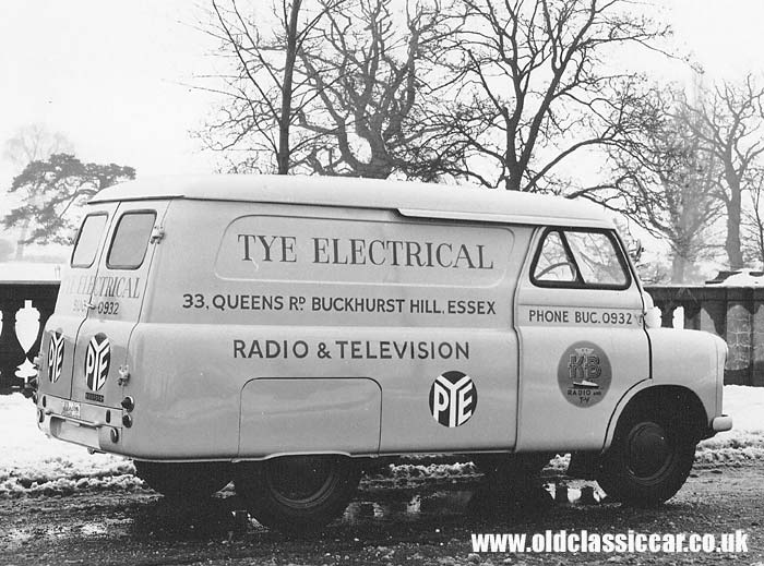 A classic Bedford van with period signwriting