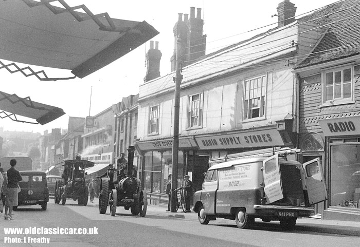 A Bedford CA parked with another driving along