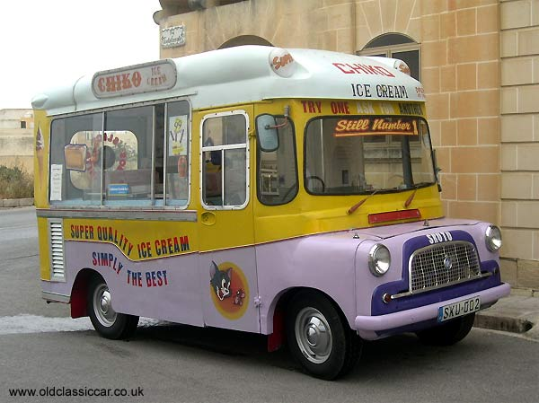 A Bedford icecream van dating to 1968