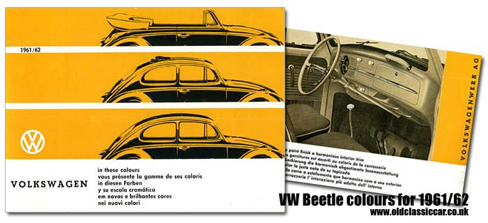 Colours for the VW Beetle