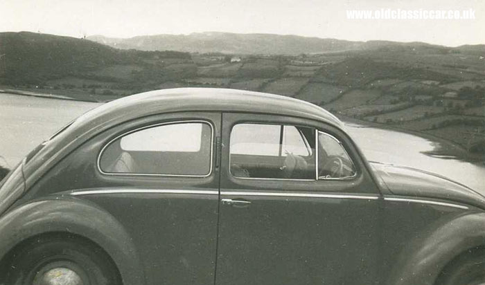 The Beetle parked up in Ireland