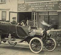 A Model T at Belgrave Cycle & Motor Works