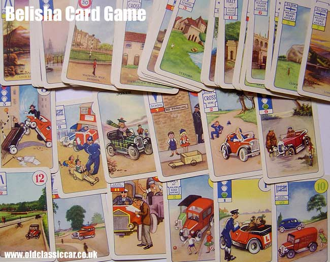 Illustrated cards from the Belisha game