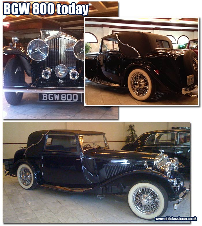 Recent photos of the Bentley featuring Barker Sedanca Coupe bodywork