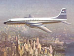 BOAC Britannia airliner over New York
