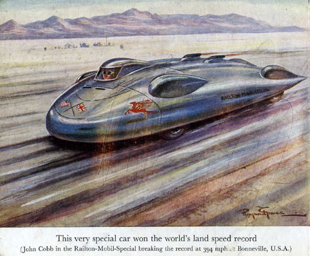 The Railton Mobil Special at Bonneville in 1947