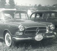 A classic Borgward P100 car