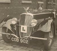 A BSA used for driving lessons in the 1930s