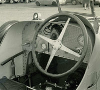 The Bugatti's engine-turned dashboard